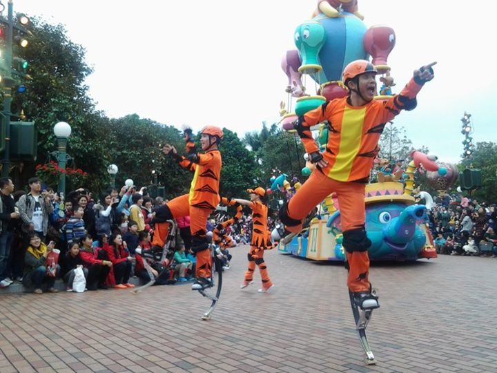 Flights of Fantasy Parade - one of the regular outdoor shows in HKG Disneyland