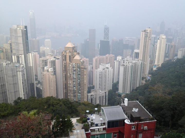 View of the skyscrapers from Victoria Peak